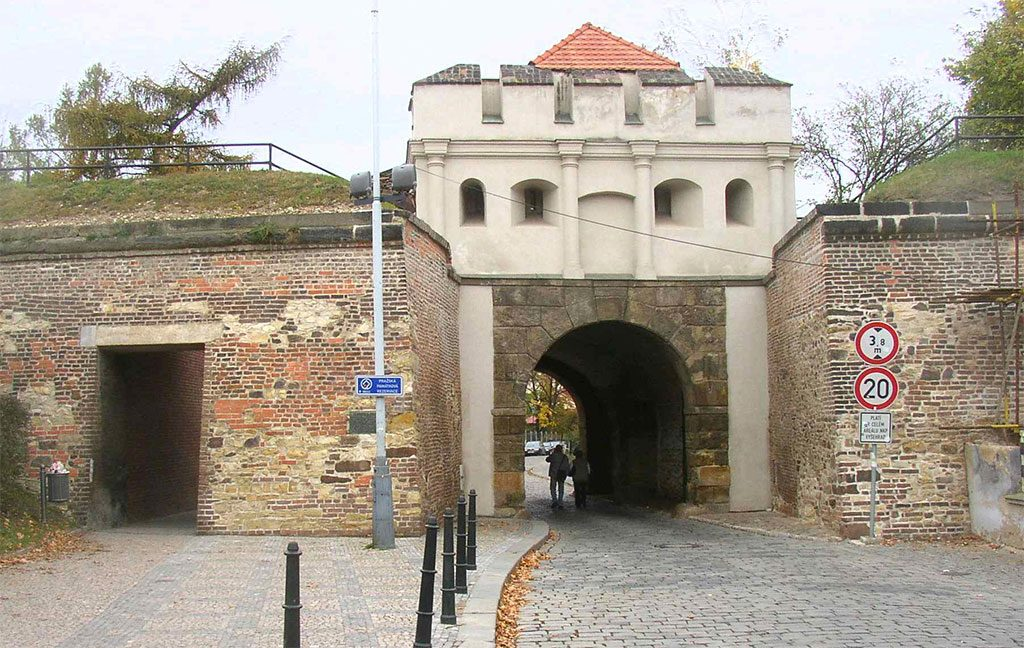 Tabor puerta, Vyšehrad, Praga