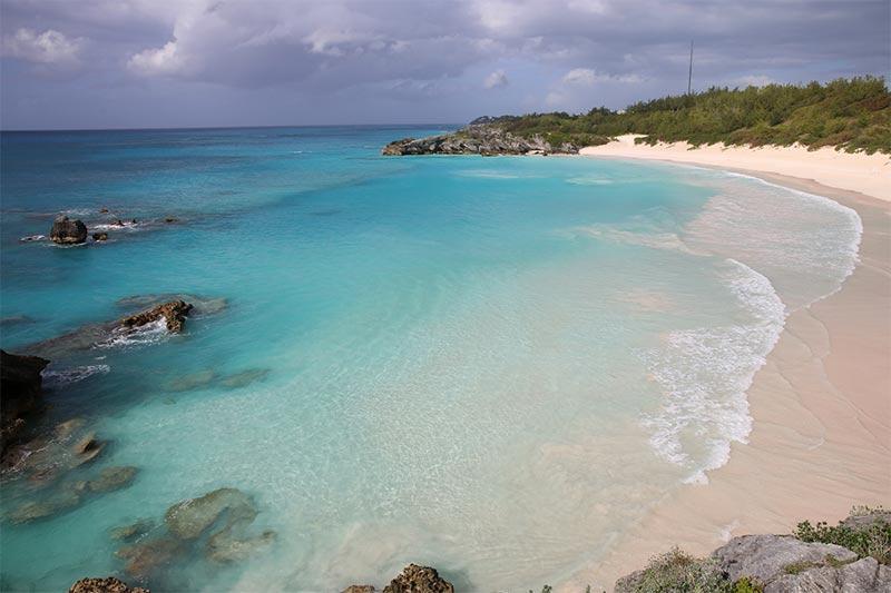 La Bahia de Horseshoe en las Islas  Bermudas